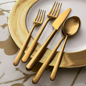 Italian Gold Flatware – Meret Flatware from Crate & Barrel
