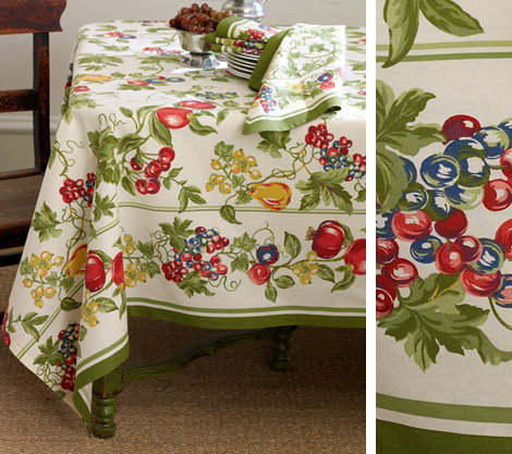 orchard table linens horchow