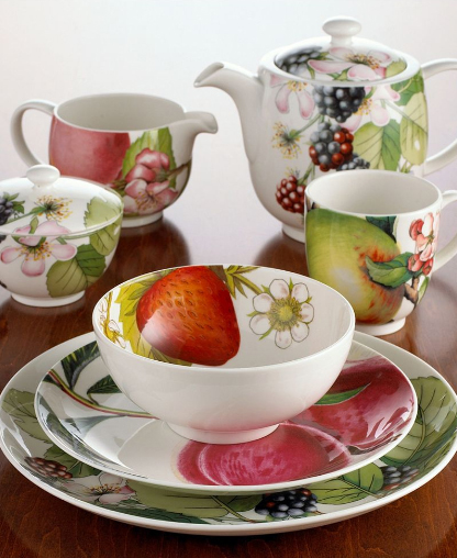 portmeirion eden dinnerware collection Fruit Dinnerware Set   Eden dinnerware from Portmeirion