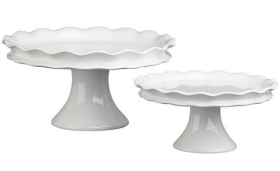 ruffled pedestals crate and barrel