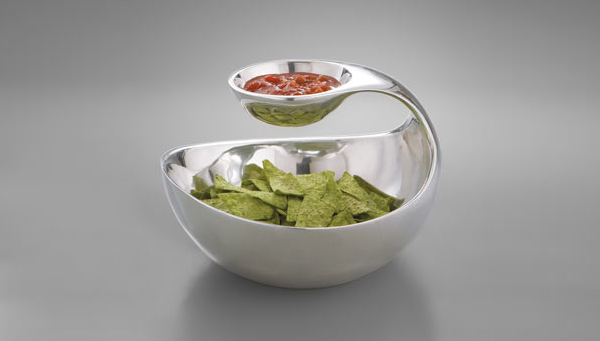 scoop chip dip server 1 Scoop Chip and Dip Server by Nambe from Neiman Marcus