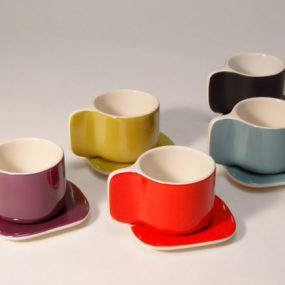 Designer Coffee Cup and Saucer by Sentou – Ti cups