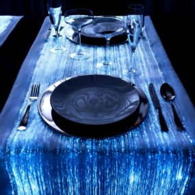 Fiber Optic Table Runners for Special Atmospheres: DreamLux