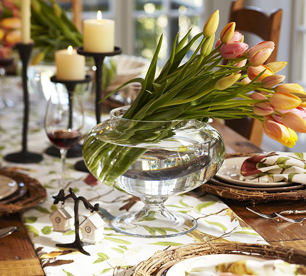 spring table setting ideas tablecloth pottery barn 2