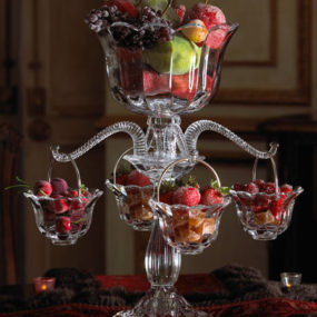 Table Centerpiece Idea – Crystal Epergne at Horchow