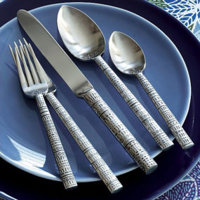 Tattoo Flatware by Lisa Jenks