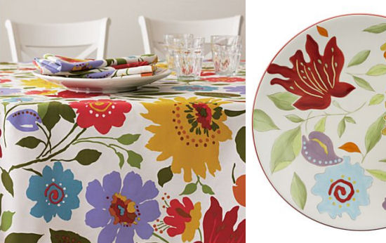 Tessie Tablecloth Napkin Spring Table Decorations And Tabletop Arrangements  By Designer Lillian Pikus