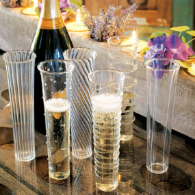 Elegant Champagne Flutes – Venetian Style set