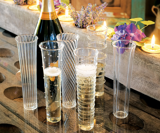 venetian style champagne flutes Elegant Champagne Flutes   Venetian Style set