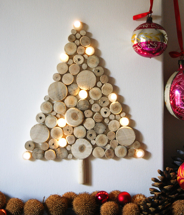 View in gallery wall christmas tree ideas 1 Wall Christmas Tree Ideas Top 20 for 2012
