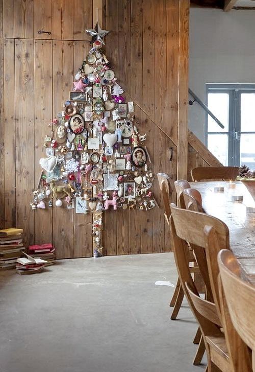 view in gallery wall christmas tree ideas 10jpg - Wall Christmas Trees