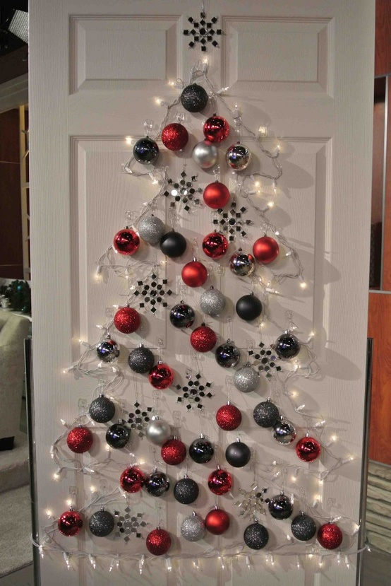 View In Gallery Wall Christmas Tree Ideas 13 Jpg