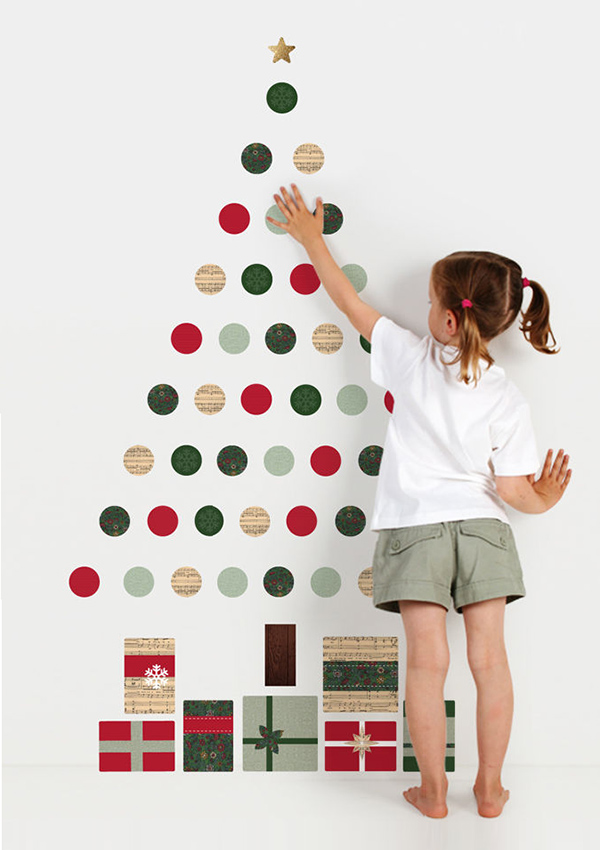view in gallery wall christmas tree stickersjpg - Christmas Wall Decor