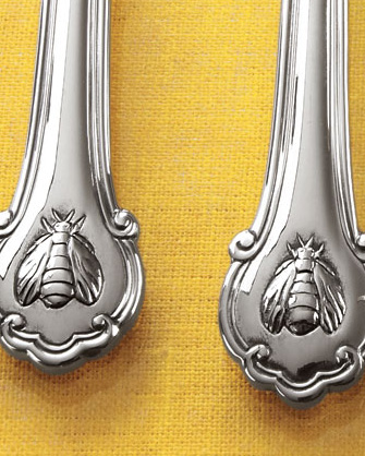 wallace napoleon bee flatware 1 Fine Stainless Steel Flatware Set   Wallace Napoleon Bee Flatware