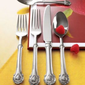 Fine Stainless Steel Flatware Set – Wallace Napoleon Bee Flatware