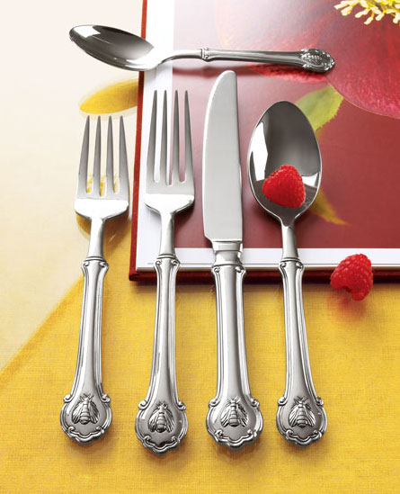 wallace napoleon bee flatware Fine Stainless Steel Flatware Set   Wallace Napoleon Bee Flatware