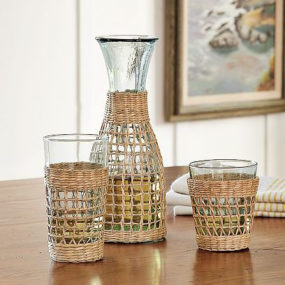 Tropical Drink Glasses – Weave Wrapped Glassware