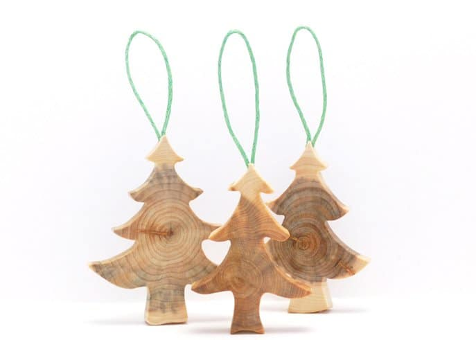 Wooden Letter Christmas Tree Decorations : Wooden christmas decorations made from juniper tree