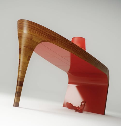 feminine table design stiletto splinter works 3