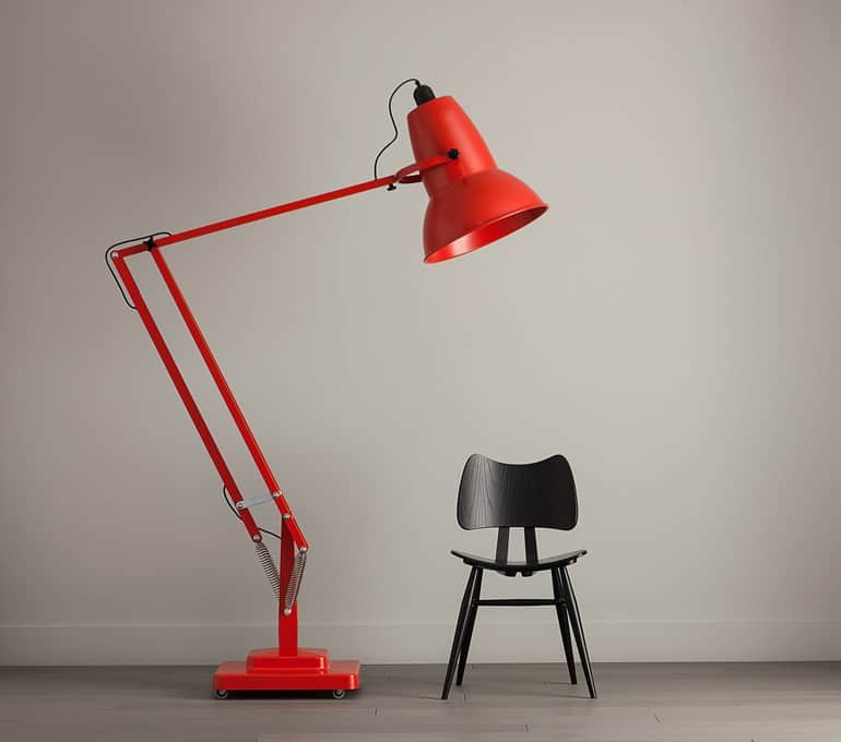 Red Anglepoise Lamp Home Decorating