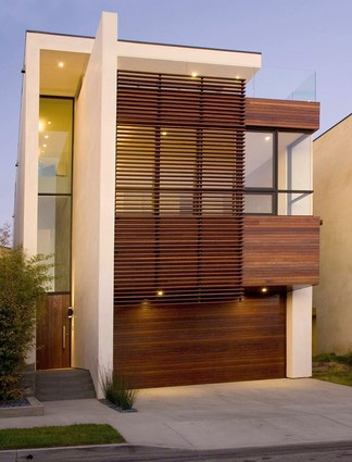 Contemporary Home Design in Manhattan Beach - three-story home with ...