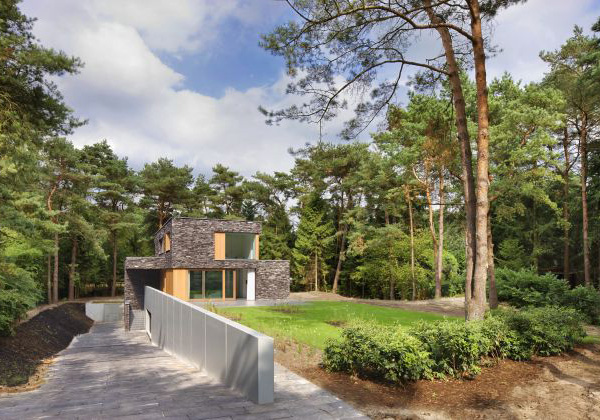 stone home designs netherlands nature house 8 Stone House Siding Blends Beautifully with Nature, in the Netherlands