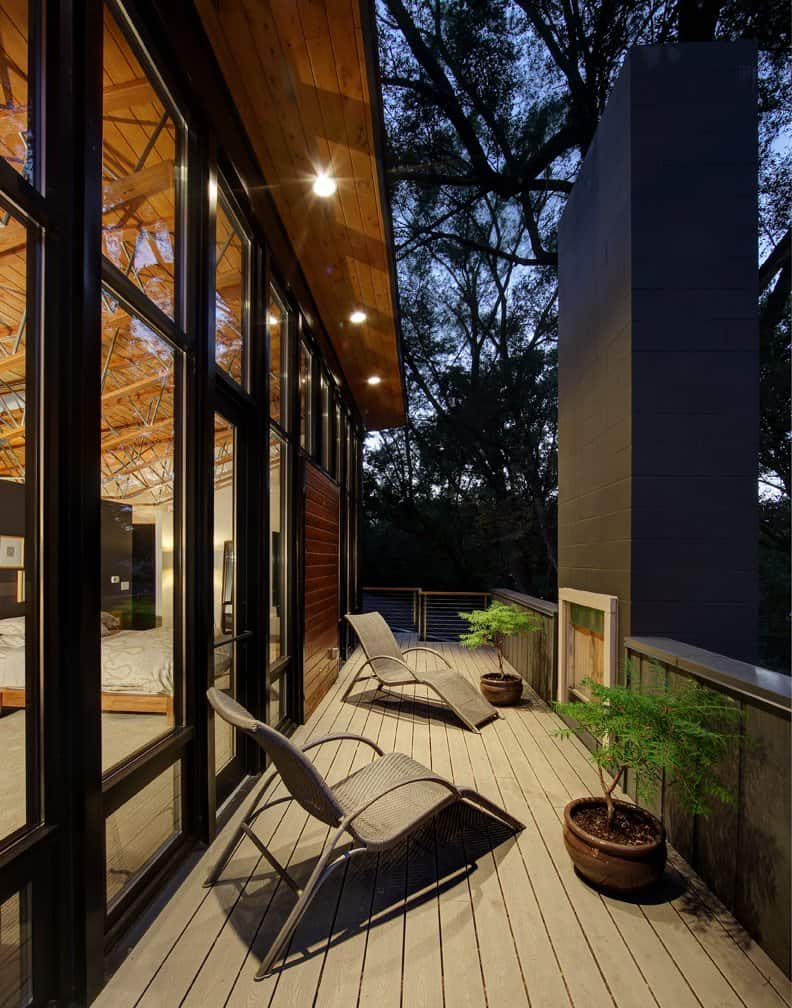 half century rancher renovated into large modern 2 story home