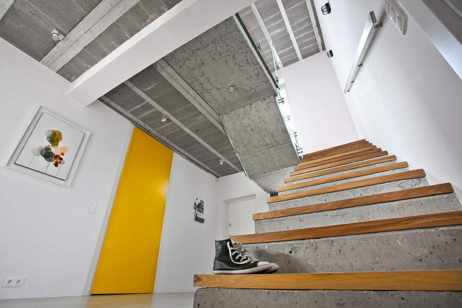 Raw Concrete And Drywall House In Poland