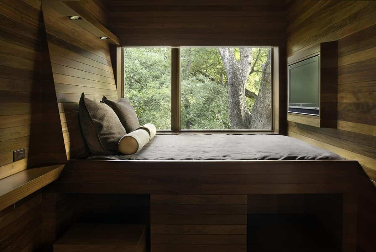1940s texan home has restored facade and contemporary details for Nature themed bedroom decor