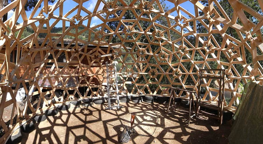 Diy Geodesic Dome By Gianluca Stasi Serves Several Uses