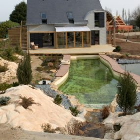 Organic Bioclimatic House in Brittany with Eco-friendly Landscaping