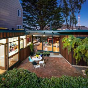 New Kitchen Addition Opens Up To Private Below Grade Courtyard