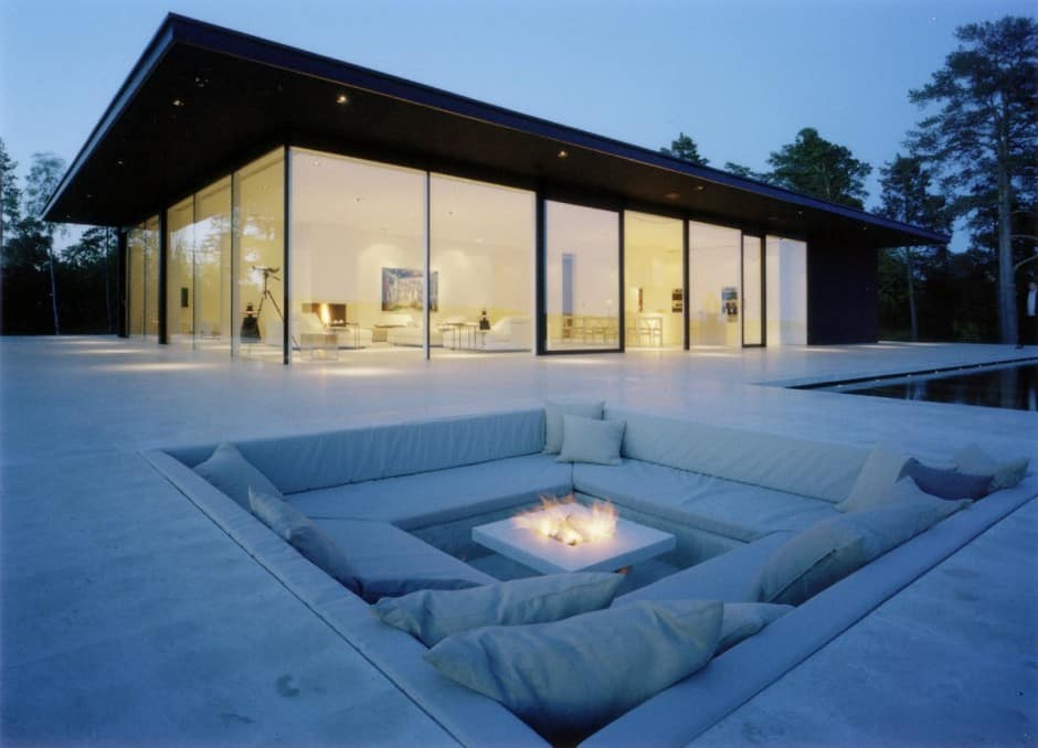 Overby Summer House Features Infinity Pool Boat Pier and 2 Fire Pits