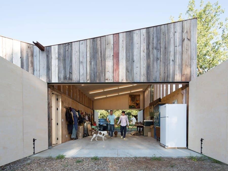 New Studio Barn Features 100 Year Old Barn Board Siding
