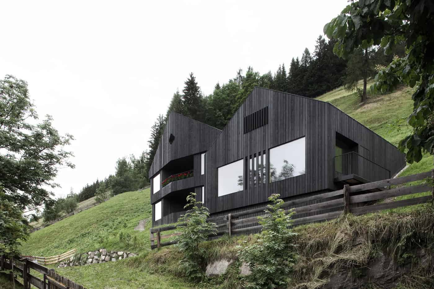 Mountain Vacation Villa in Italy built with Local Dolomite and Wood