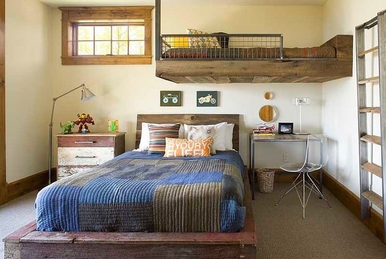 View In Gallery Contemporary Rustic Residence Industrial Moments Features Turret 12 The Kids Bedroom