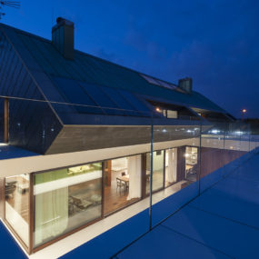 Slanted Roof Line Home