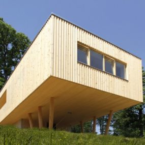 Stilts and Concrete Base Lift Home Above Slope
