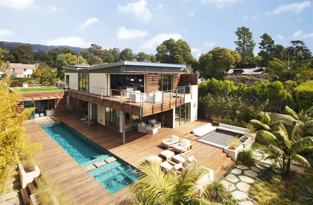 Roof Design Ideas: Platinum Level LEED Home With Pool House