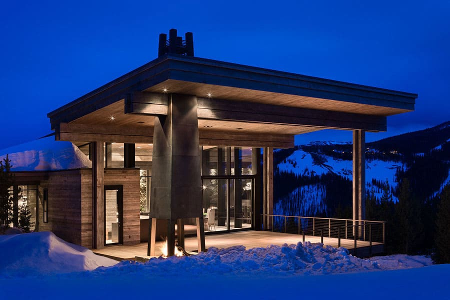 luxury ski residence in montana