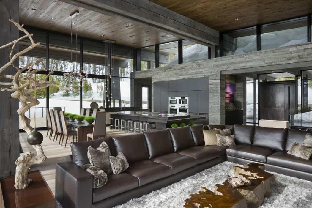 Luxury ski residence in montana for Design skihotel