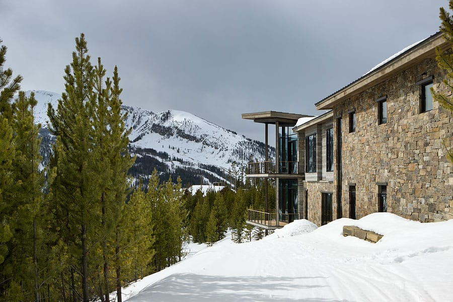 Luxury ski residence in montana for Ski designhotel