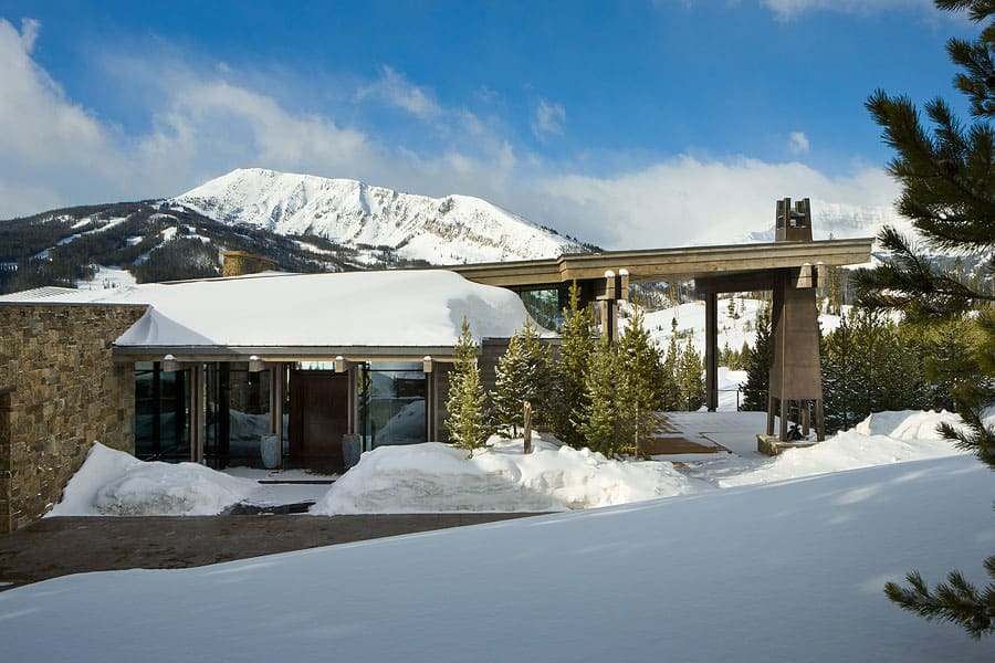 Luxury ski residence in montana for Designhotel ski