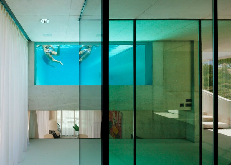 View In Gallery Concrete Home Pool Glass Floor 8 Window