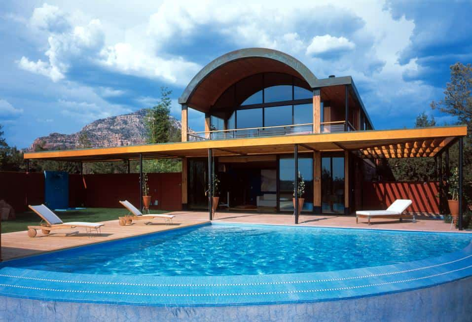 Desert Home With Copper Clad Barrel Roof