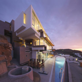 Rock Cliff Exposed Inside Ocean View Home