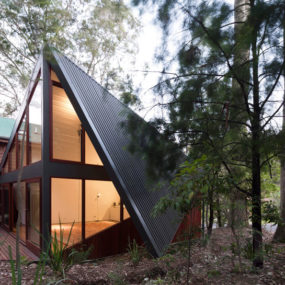 Beach House Expansion with Triangular Roofline