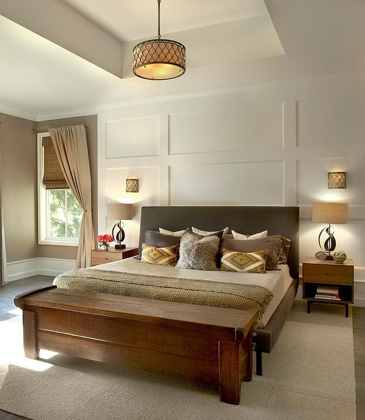 Grey Accent Wall Master Bedroom