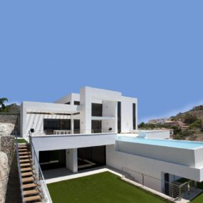 Concrete Home with 2nd Level Pool and 360 degree Views