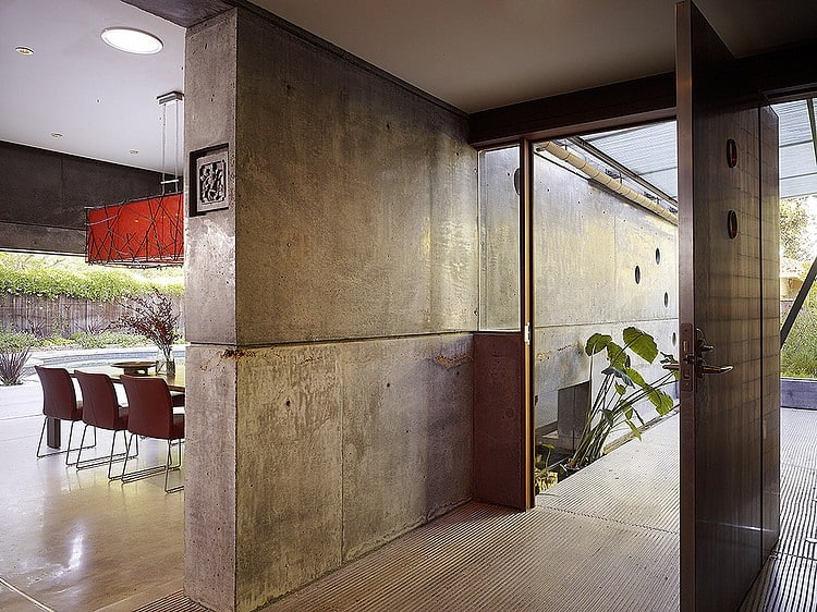 Hybrid Wood And Concrete Home